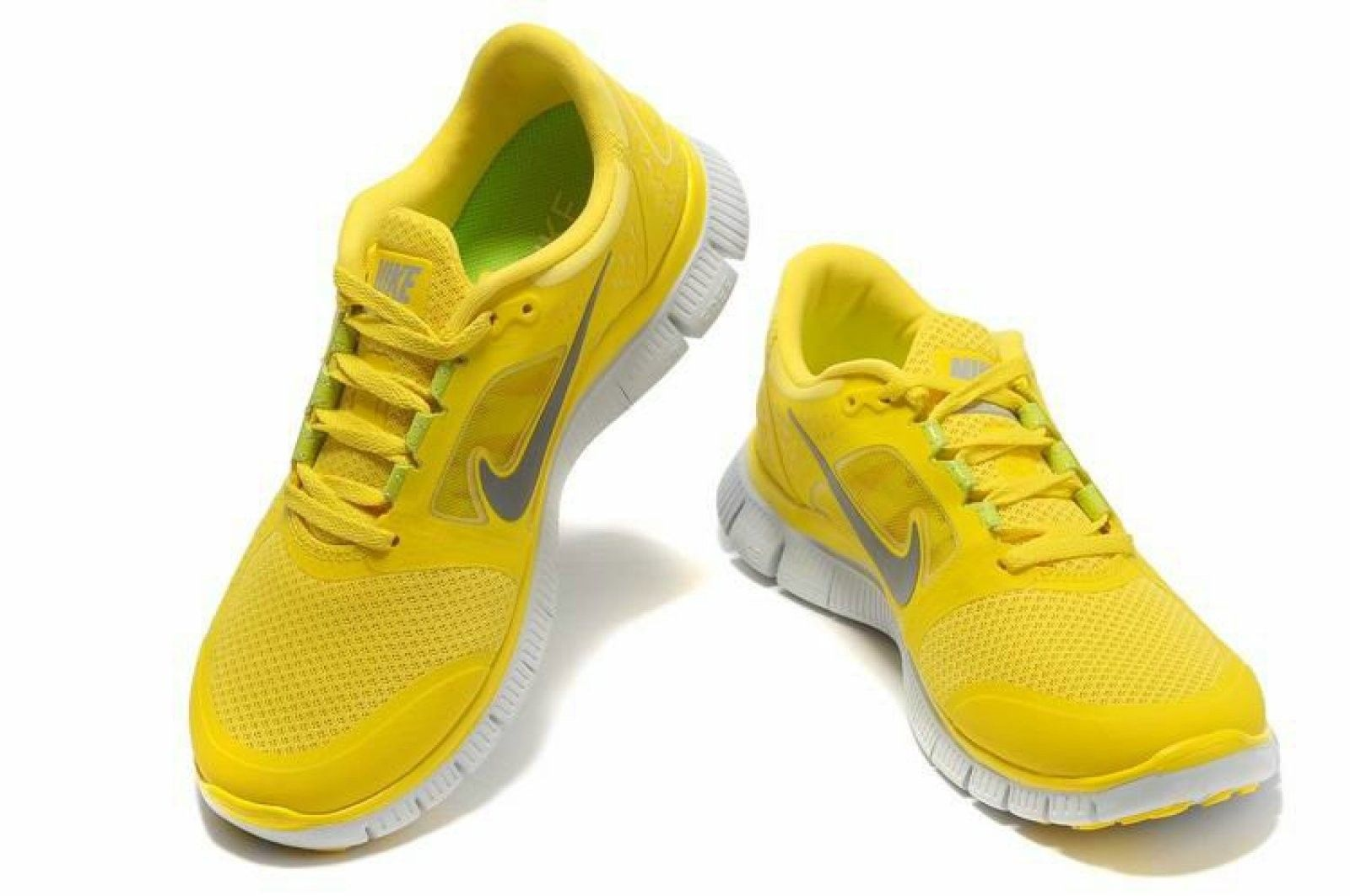 En Primavera Y Verano Viste De Amarillo Calzado Nike Gratis Nike Free Zapatillas Nike Para Hombre