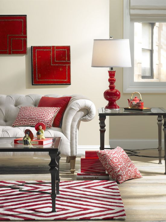 A Colorful Living Room Decorating Idea One Room Three Ways Living Room Red Elegant Living Room Colourful Living Room