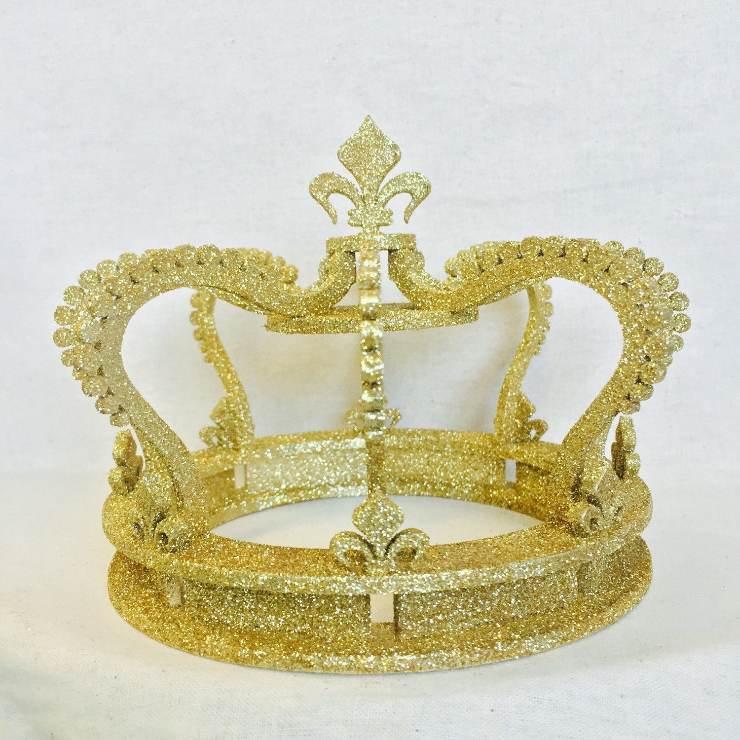 Gold Glitter Crown Cake Topper Wedding Cake Top Princess ...