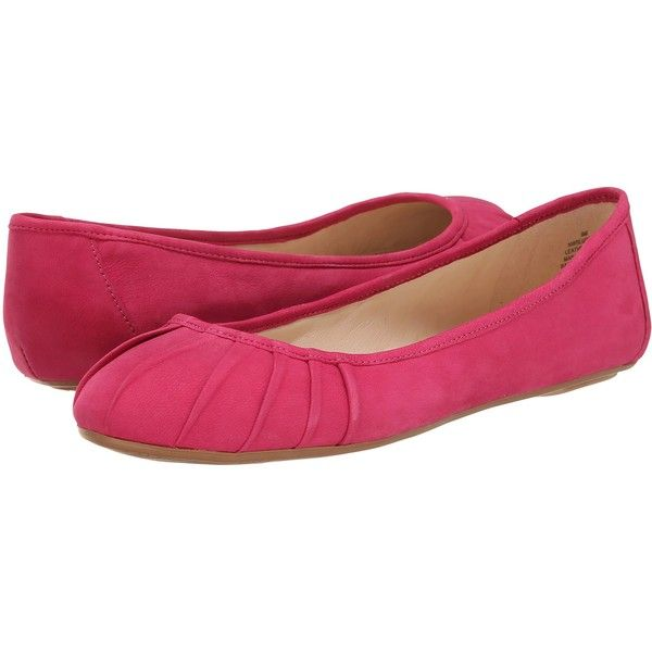 Nine West Blustery (Pink Nubuck) Women's Flat Shoes ($36) ❤ liked on