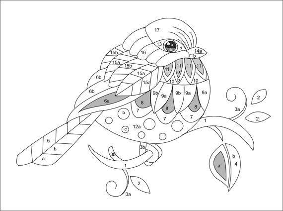 DIGITAL PATTERN Chickadee por TRISHBURREMBROIDERY en Etsy