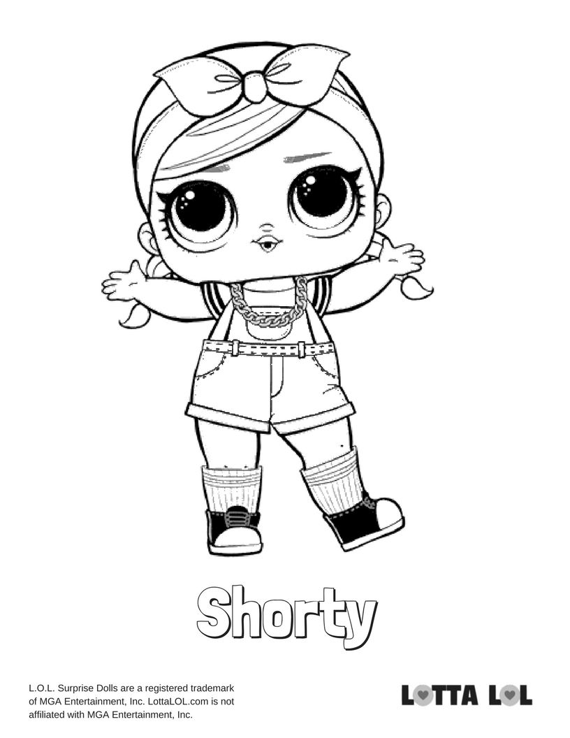 Shorty Coloring Page Lotta Lol Lol Dolls Coloring Pages Cool