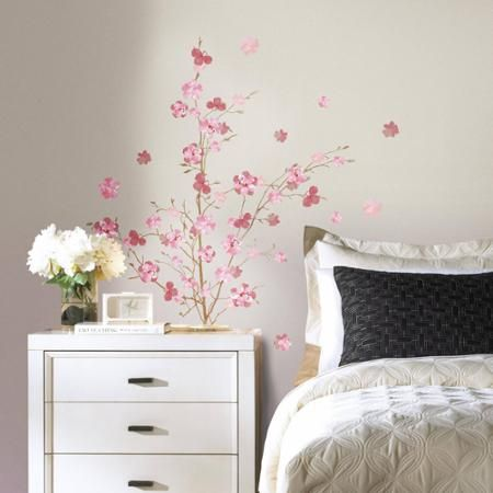 RoomMates Pink Blossom Branch Peel And Stick Giant Wall Decals   Walmart.com