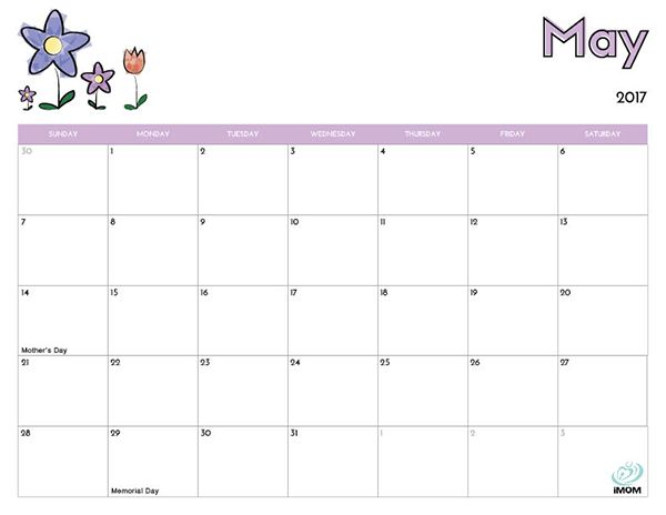 Kids Monthly Calendar : Printable calendar for kids calendars