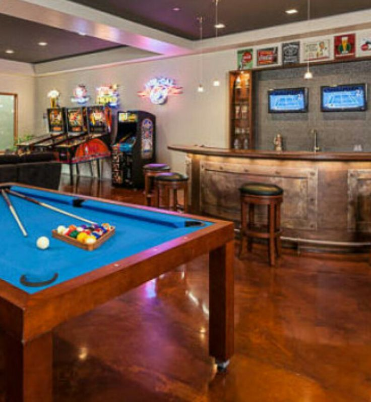 Luxury Man Cave Game Room Bar With Images: What's A Man Cave Without Video Games And Pool? (With