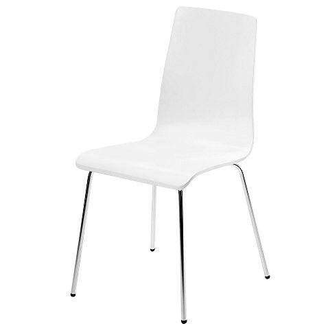 Awe Inspiring John Lewis Retro White Jasper Dining Chairs Only Rrp 39 Bralicious Painted Fabric Chair Ideas Braliciousco