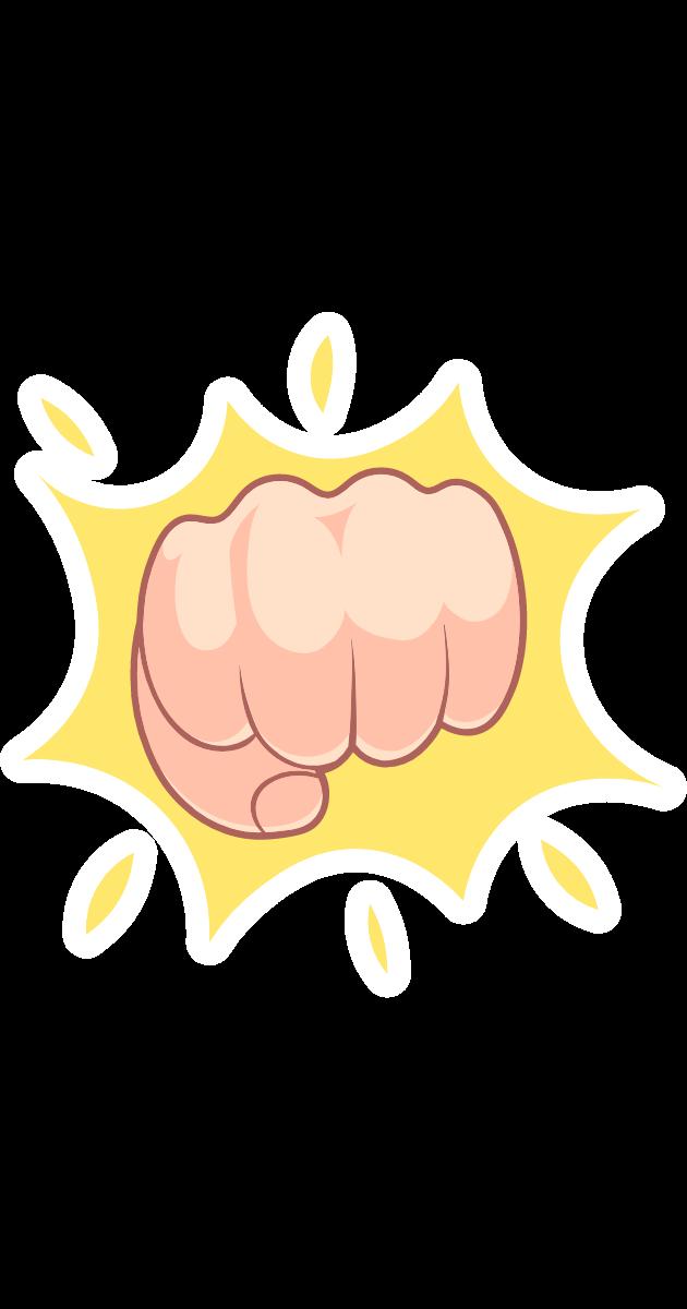 Fist Bump Gesture Fist Bump Print Stickers Stickers