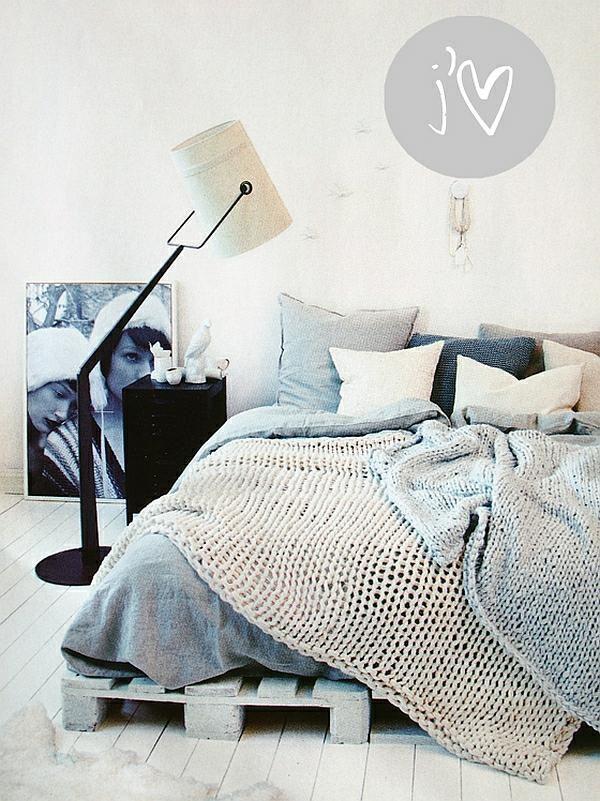 Holzpaletten Bett Rahmen Schlafzimmer Ideen Einrichten - innendekoration ideen