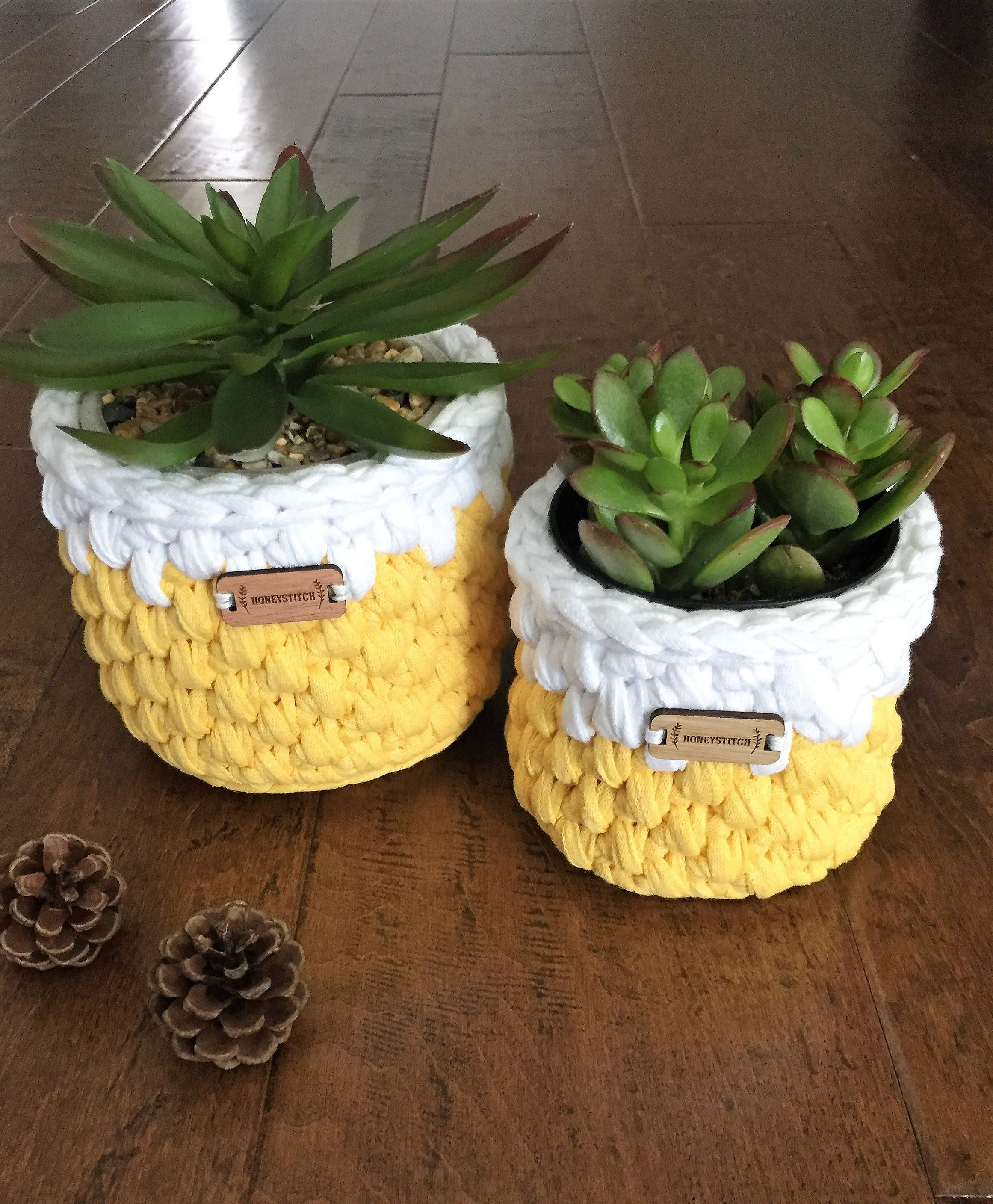 MINI size crochet basket ready to ship