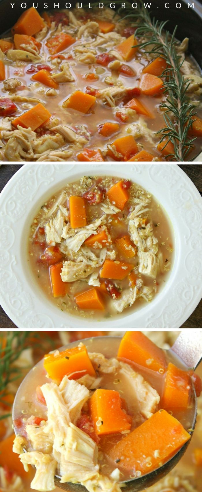 Hearty Slow Cooker Chicken Soup With Butternut Squash ...