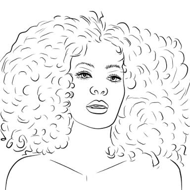 Resultado De Imagem Para African Woman Desenho Para Colorir