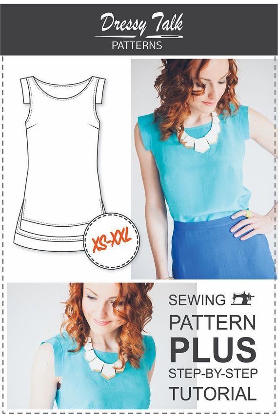 Beginner Top Patterns - PDF Sewing Patterns | Pdf sewing patterns ...