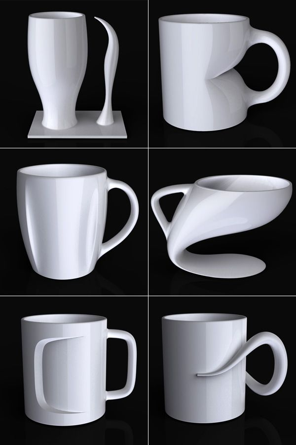 Coffee Mugs By Jerome Olivet What Great Crazy Shapes