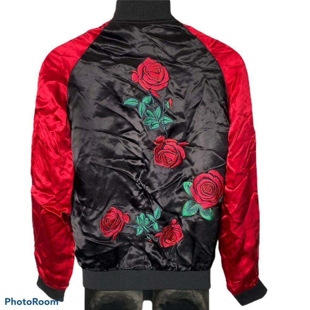 Zara Man Satin Bomber Jacket Mens M Embroidered Red Roses Zipper Front Ebay Satin Bomber Jacket Mens Satin Bomber Jacket Bomber Jacket [ 1000 x 1000 Pixel ]