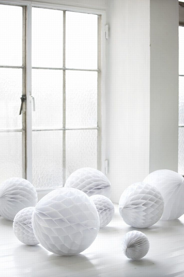 Honeycomb Decorations Paper Balls White Paper Balls #christmaswedding  Christmas Wedding Ideas