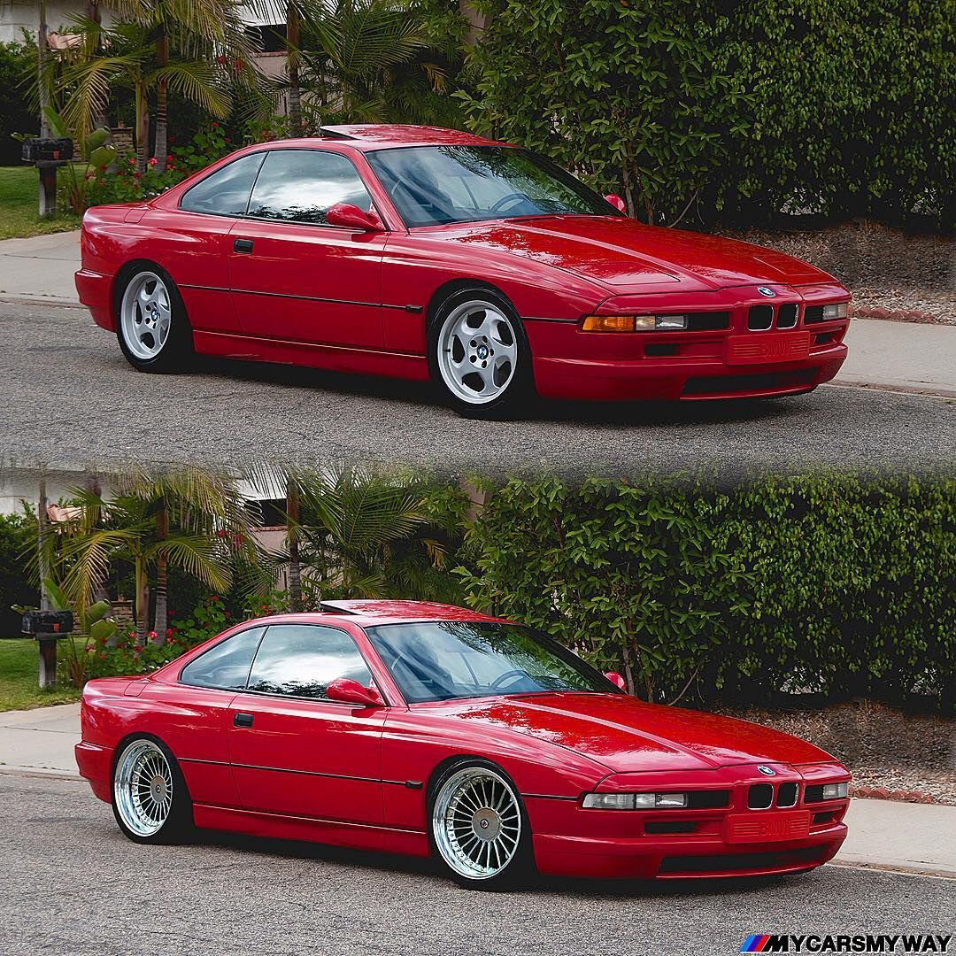 "MyCarsMyWay on Instagram: "": BMW 8 series before & MyWay Subtle changes & of course @beck34ist's gorgeous wheels.  #alpina #bbs #bmw #bimmerrides #8series #e21 #e23…"" – Voiture"