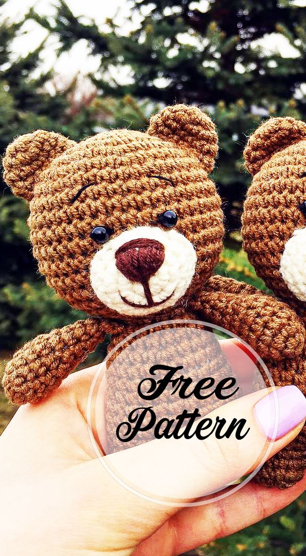 Awesome Free Crochet Teddy Amigurumi Bear Pattern #crochetbear