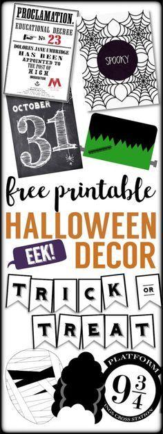 12 Halloween free printables for your Halloween decor Have fun - print halloween decorations