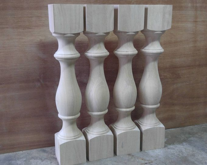 Unfinished Monastery Dining Table Legs Console