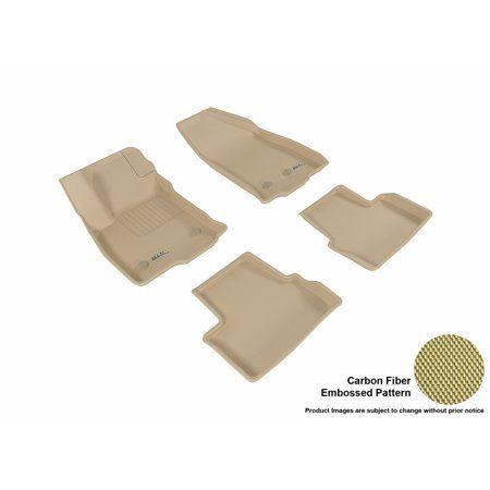3d Maxpider 2016 2017 Chevrolet Volt Front Second Row Set All Weather Floor Mats In Tan With Carbon Fiber Look Carbon Fiber Chevrolet Volt Floor Mats