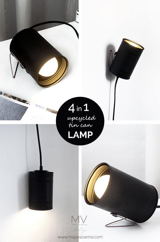 MV blog | Maja Večerina: 4in1 UPCYCLED TIN CAN LAMP / 4v1 UPCIKLIRANA LUČKA IZ PLOČEVINKE
