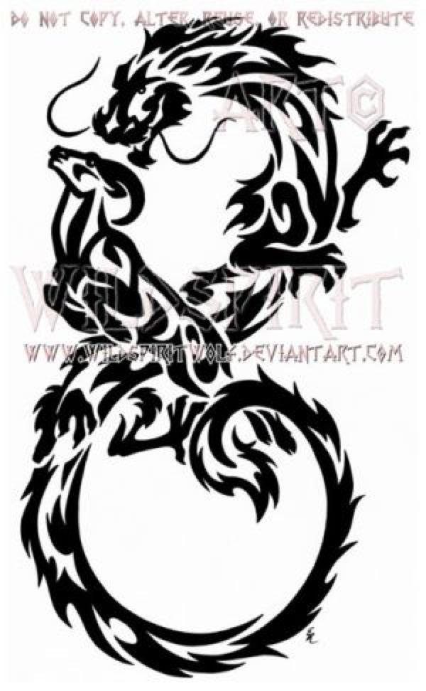 infinity dragon and ram tribal design by wildspiritwolf on deviantart silhouette pinterest. Black Bedroom Furniture Sets. Home Design Ideas
