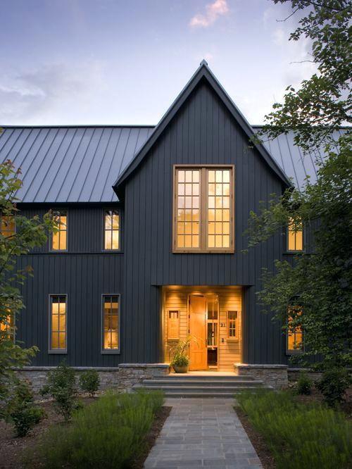 Dark Grey House Exterior Charcoal Gray Siding