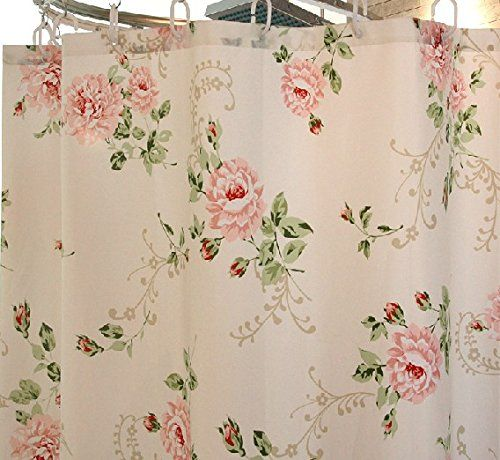 Bathroom Accessories · Amazon.com   Pink Thickened Waterproof Dacron Shower  Curtain With Romantic Red Rose Pattern,