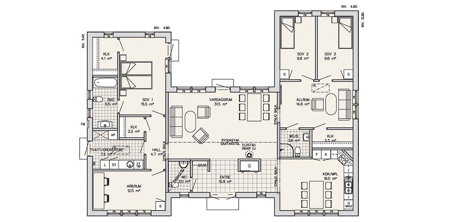 U shaped house plans maleras scandinavian homes ltd for U shaped home with unique floor plan