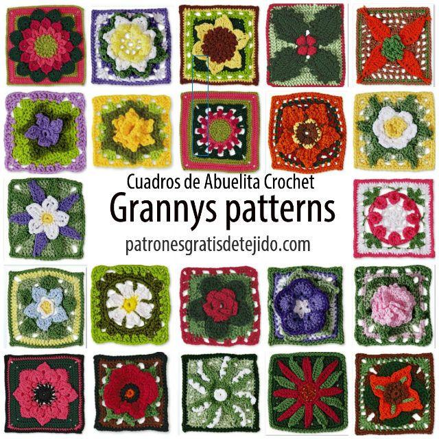 Crochet y Dos agujas: +20 Patrones de los mejores Grannys de la web ...