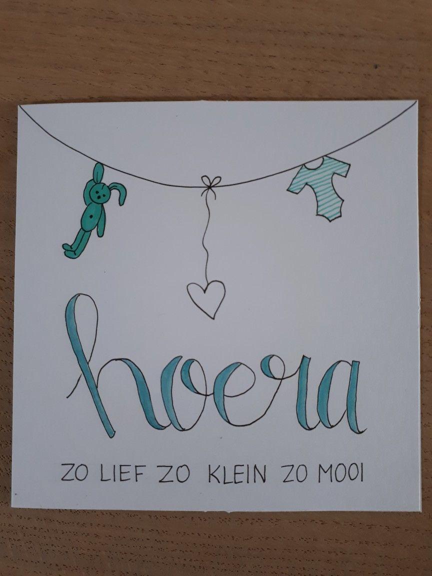 Uitgelezene Kaartjes by Astrid #geboorte #hoera #mooi #klein #lief IN-25