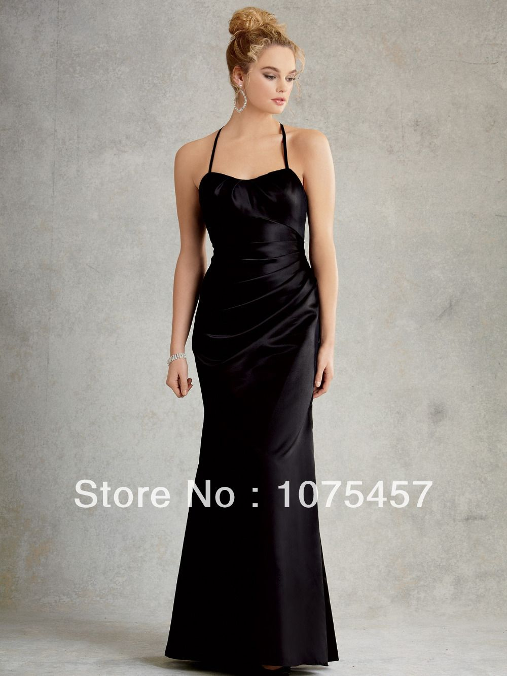Click to buy unique black halter bridesmaid dresses taffeta click to buy unique black halter bridesmaid dresses taffeta lace back with ombrellifo Image collections