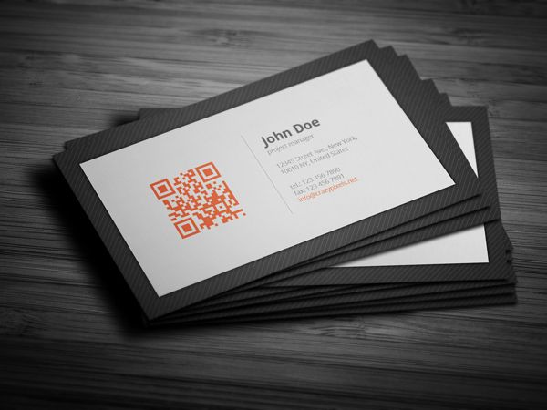 Personal Business Card With QR Code Qr Name Design