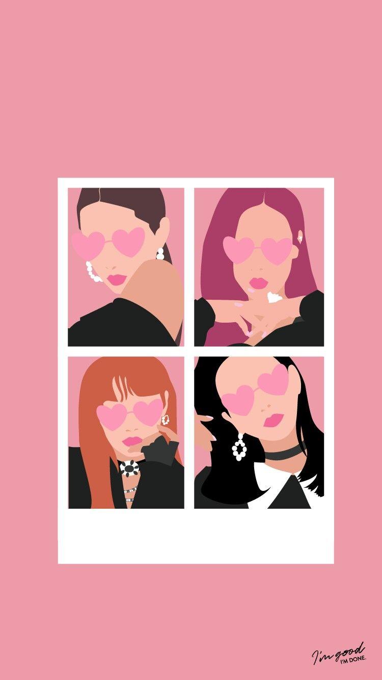 Black Pink Ios Wallpaper