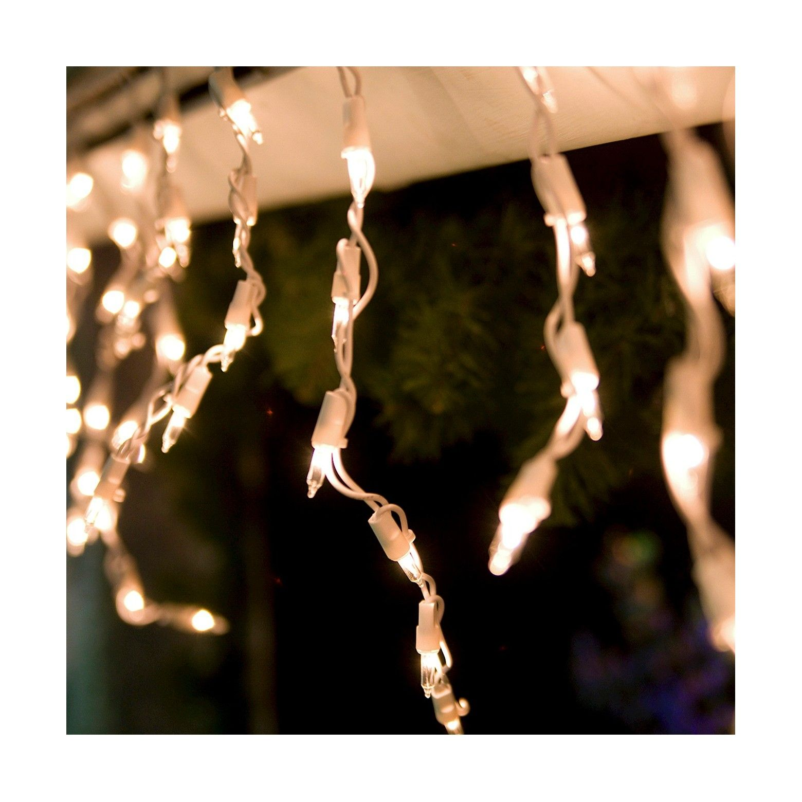 100ct Icicle Lights Clear Target Icicle christmas