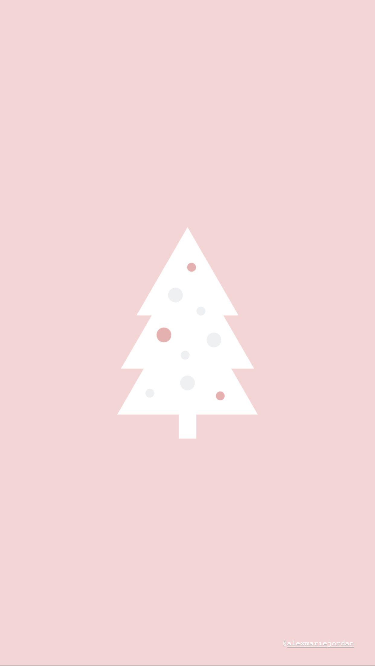 Pink Christmas Tree Wallpaper Cute Christmas Wallpaper Christmas Tree Wallpaper Wallpaper Iphone Christmas