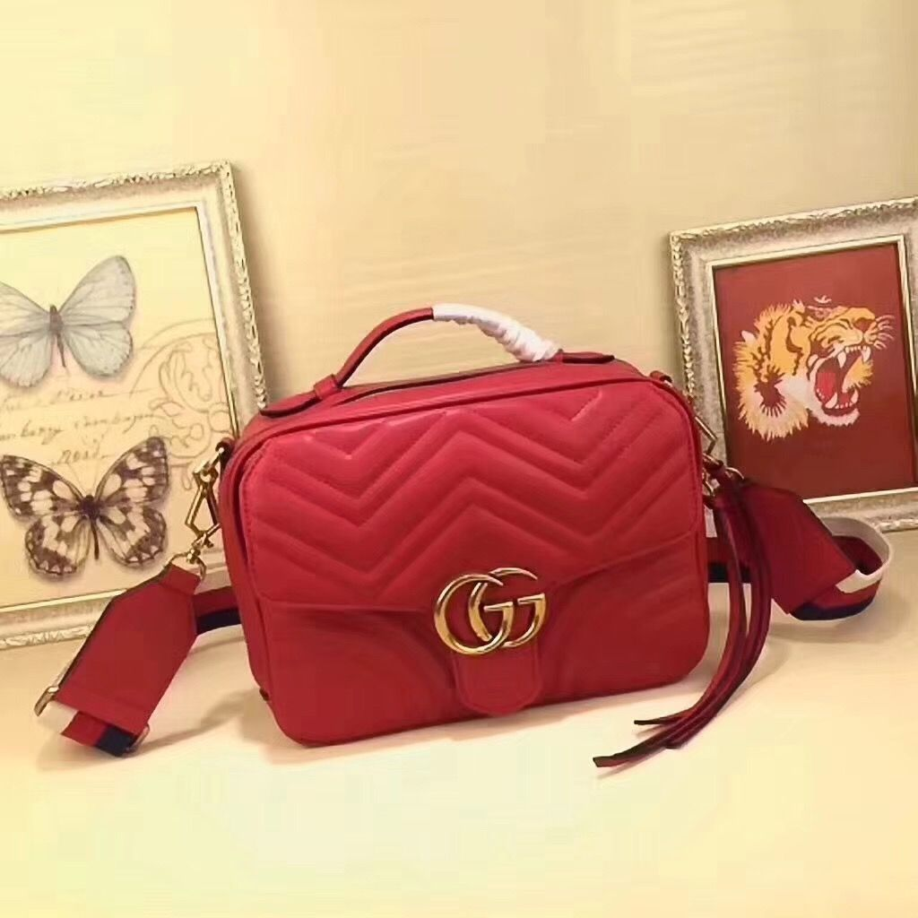 a3c3a21e696 Gucci GG Marmont Animal Studs Leather Backpack 476671