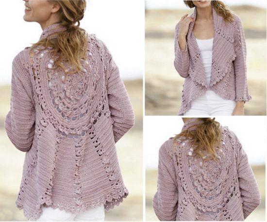 Crochet Lace Jacket Free Pattern Ideas Galore | Lace jacket, Free ...