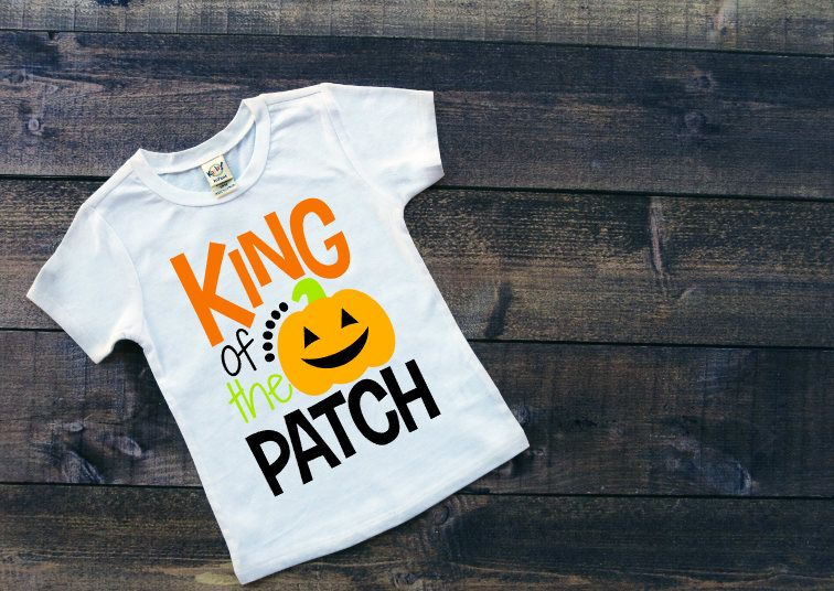 13423f4e King Of The Pumpkin Patch Tee Boy's Halloween Shirt Toddler's Halloween  Party Shirt Infant Halloween Outfit Kids Trick or Treating Shirt by ...