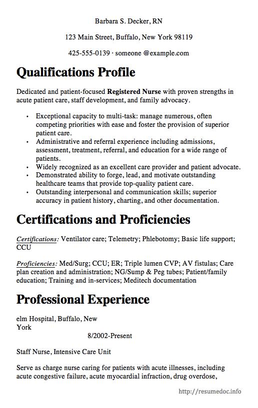 Staff Nursing Resume Sample Free resume samples, Nursing