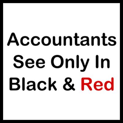 Accountants See Black & Red Wall Art by GeekNirvana