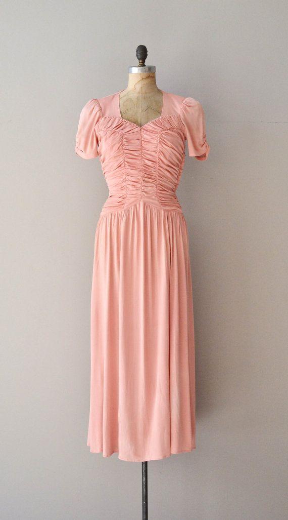dbf9e16f9893 Aphrodisia dress • rayon 1930s dress • vintage 40s dress