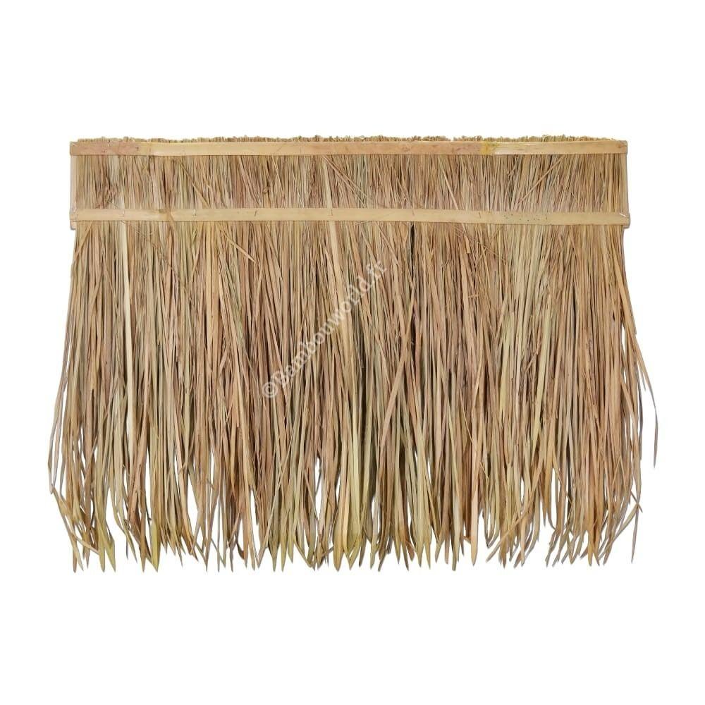 Paille Ou Feuilles De Palme Bambou Cloture Bambou Paille