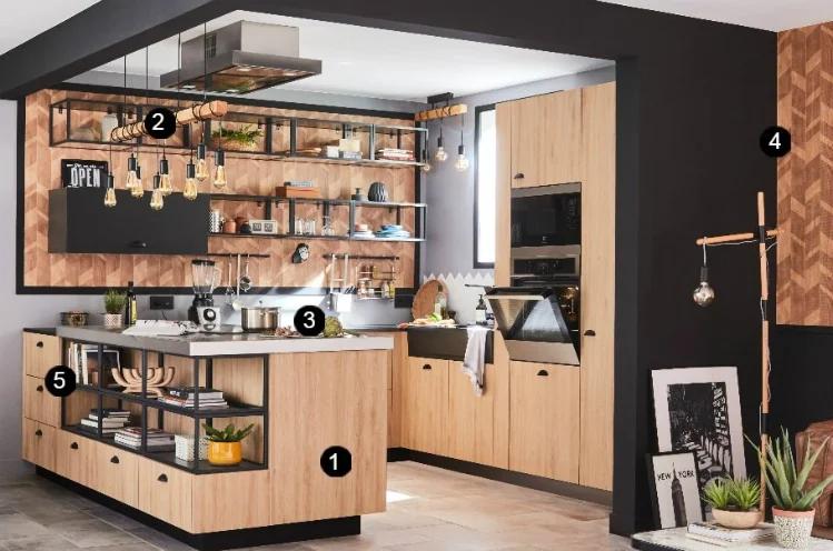 Une Cuisine Esprit Bistrot Idee Deco Cuisine Ouverte Decor Salon Maison Idees Pour La Maison