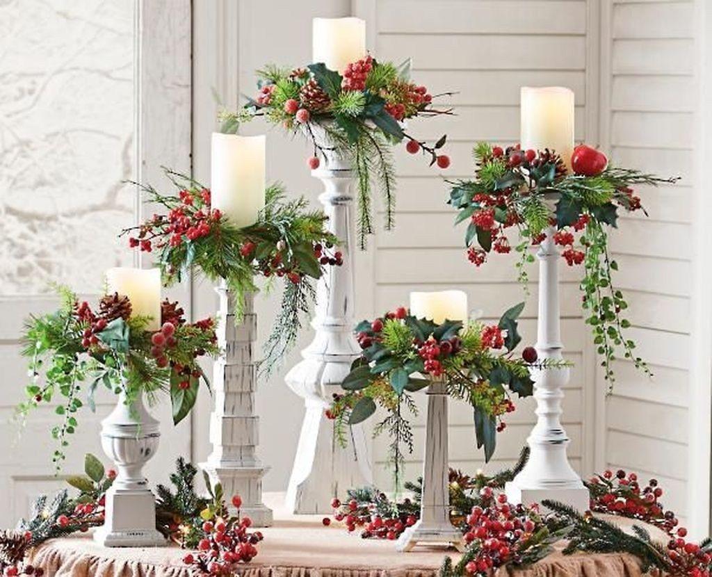 50 wunderschöne Weihnachtskerzen Deko-Ideen #christmasdeko