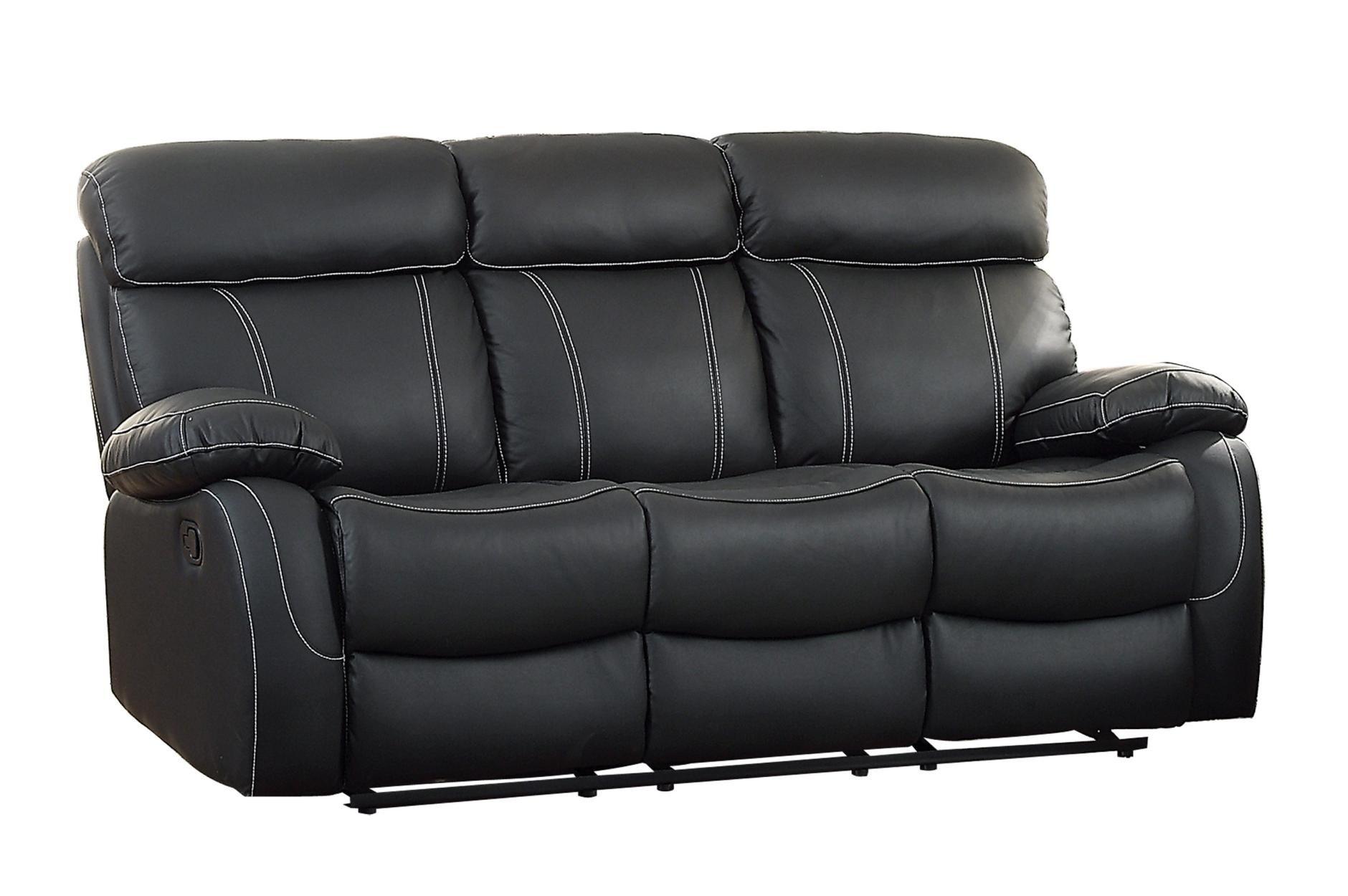 Pendu Leather Leatherette Double Reclining Sofa Reclining Sofa