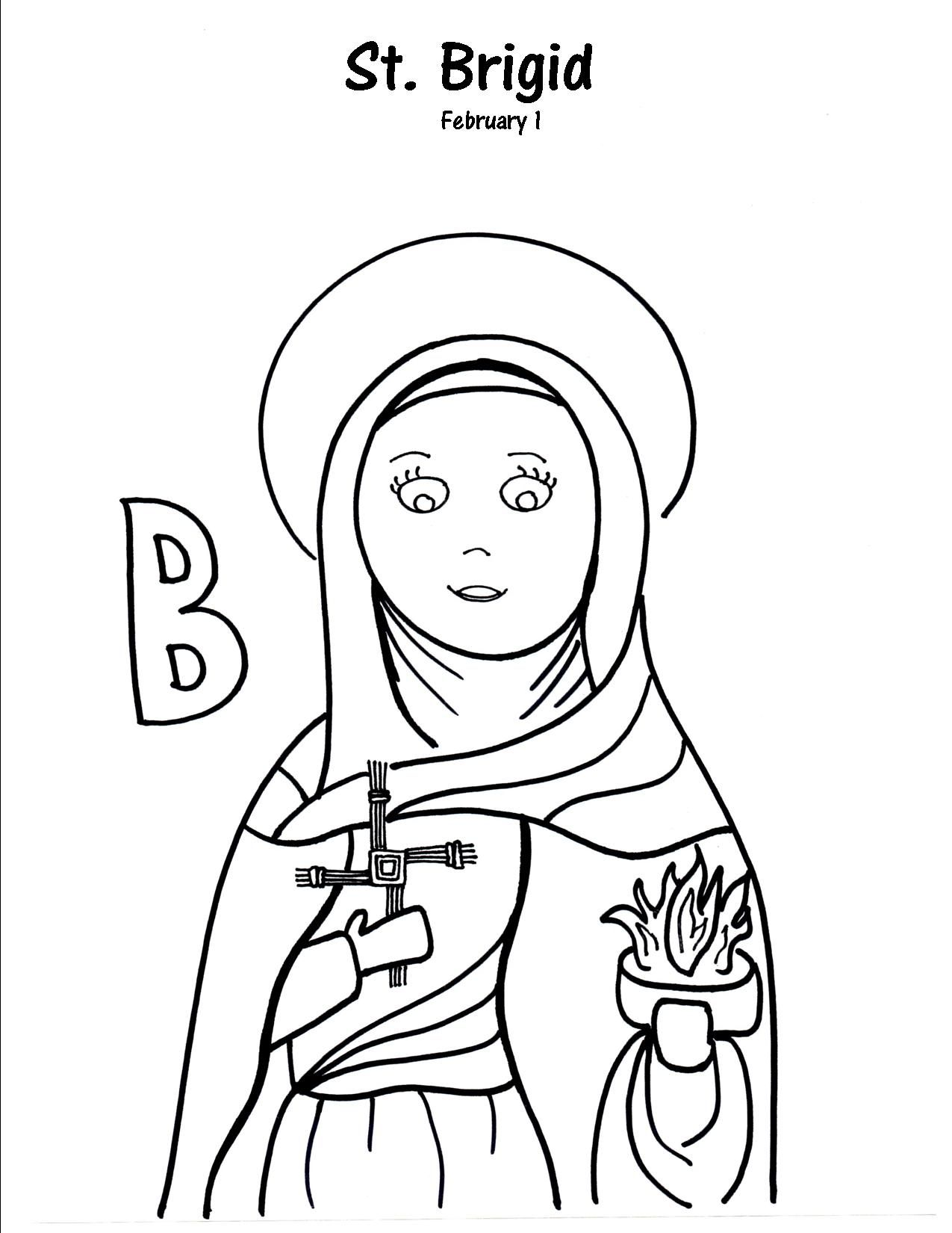 b is for st brigid project ideas pdf and filing st anthony coloring page saint brigid coloring pages
