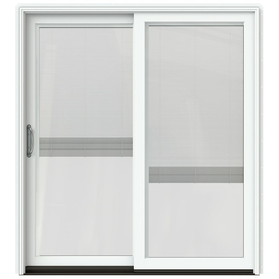 JELD WEN W 2500 71.25 In Blinds Between The Glass Brilliant White Wood. Sliding  Patio DoorsWhite ...