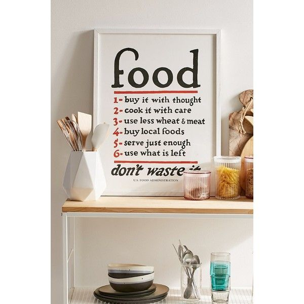 Lettered & Lined Food Rules Art Print ($89) ❤ liked on Polyvore featuring home, home decor, wall art, inspirational wall art, calligraphy wall art, word wall art, urban outfitters and quote wall art