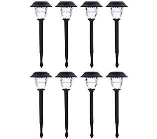 Duracell Set Of 8 Solar Pathway Lights With Color Lock With Images Solar Pathway Lights Pathway Lighting
